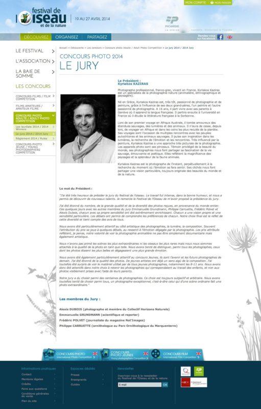 Kyriakos KAZIRAS, président du Festival de l'oiseau et de la nature 2014