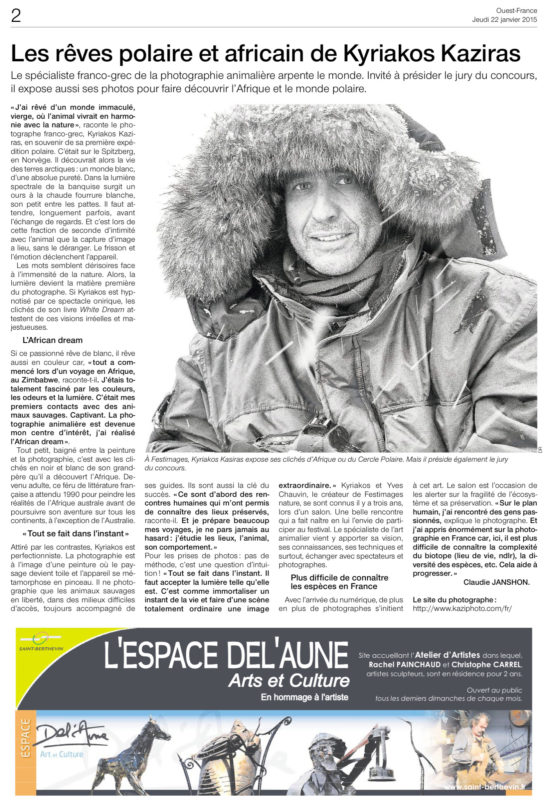Ouest France 20150122 2
