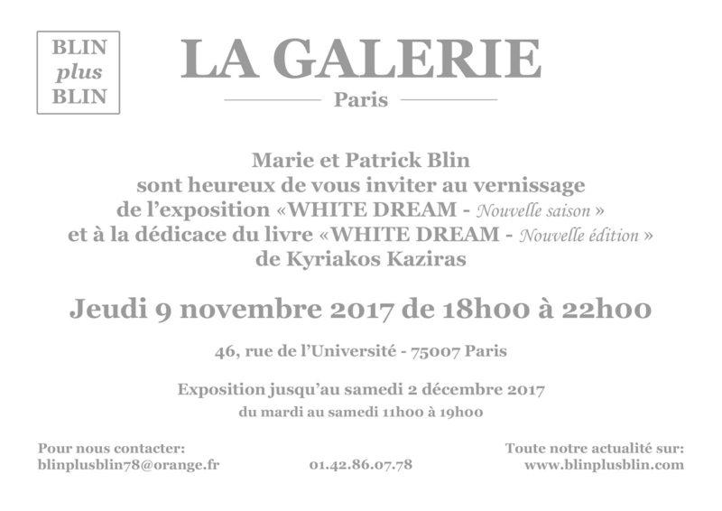Exposition et dedicace du livre WHITE DREAM nouvelle edition